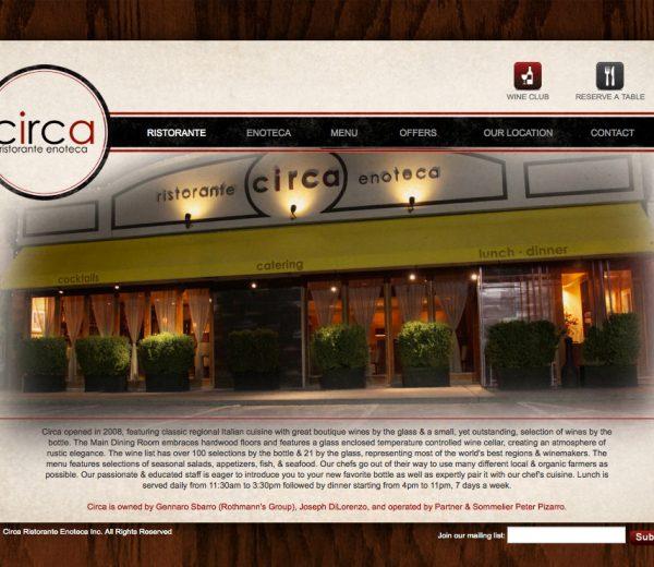 Circa Ristorante Enoteca Website