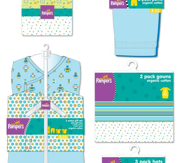 Pampers Clothing Line Packaging